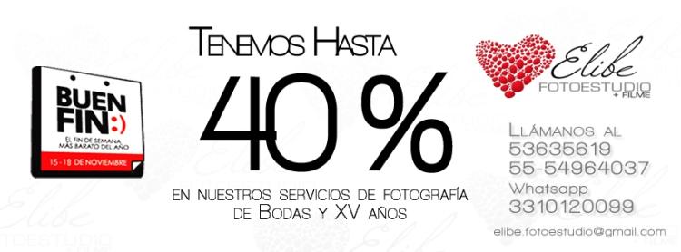 Hasta 40% en fotografía de bodas